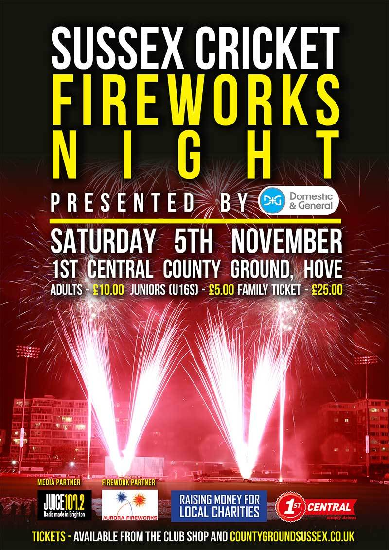 Sussex Cricket Fireworks Night